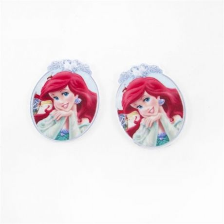 5 x 35MM NEW LITTLE MERMAID LASER CUT FLAT BACK RESIN HEADBANDS HAIR BOWS CARD MAKING PLAQUES